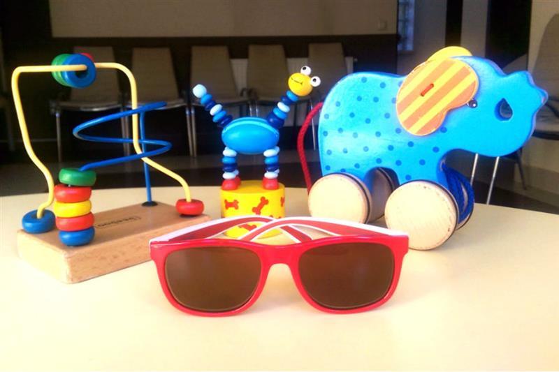 Rama pentru ochelari de vedere pentru fetite Polaroid cu lentile colorate cu dioptrii
