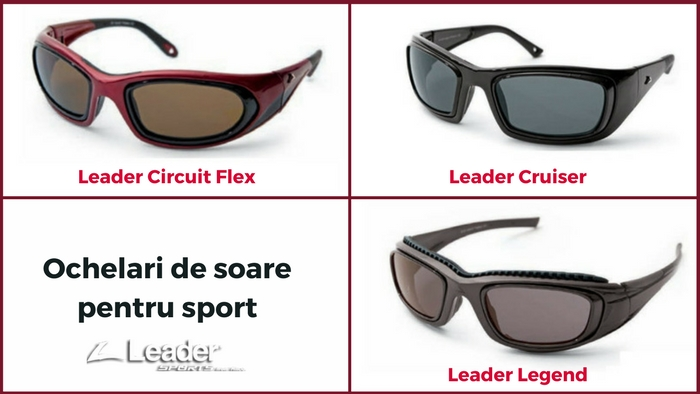 Ochelari de soare pentru sport Leader Circuit Flex, Leader Cruiser si Leader Legend