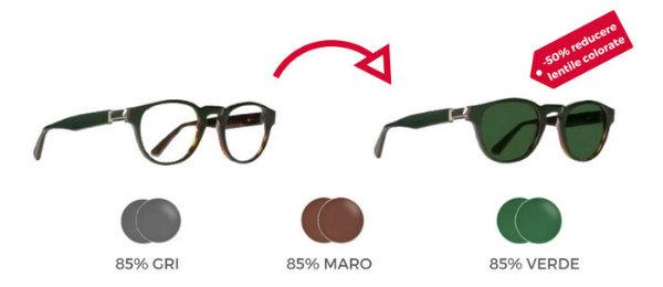 Ochelari cu lentile transparente si ochelari cu lentile colorate cu dioptrii
