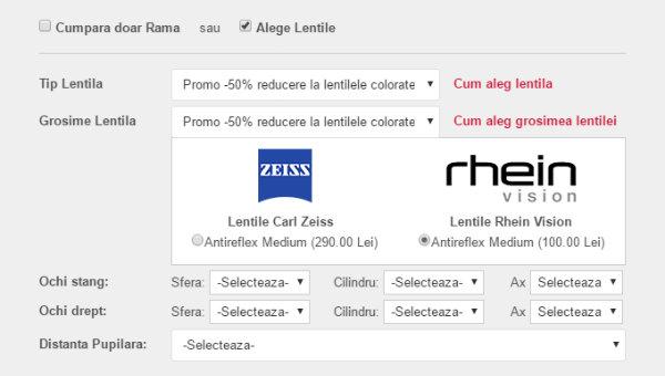 Promo - 50% reducere la lentilele colorate Rhain Vision